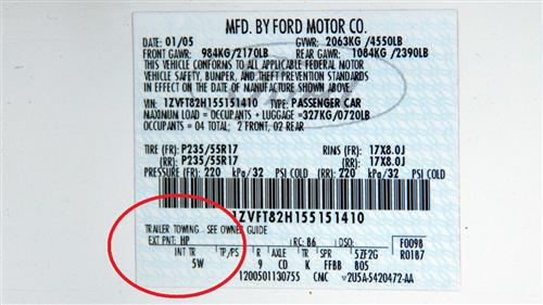 S197 Mustang Paint Codes (05-14) - S197 Mustang Paint Code Location