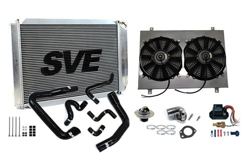 SVE Mustang Radiators, Hoses & Fans - SVE Mustang Radiator, Hoses & Fan Kit